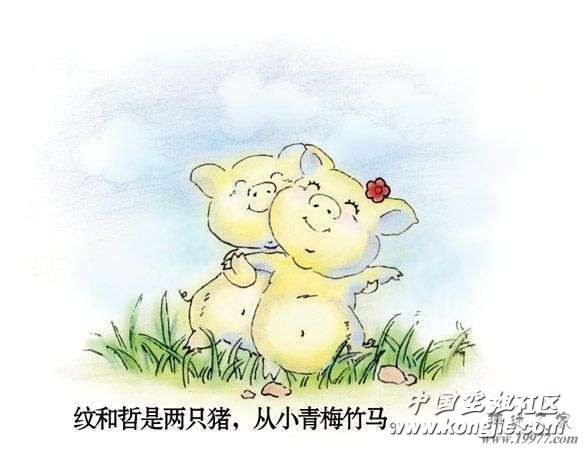 [漫话情感] 两只猪猪的刻骨爱情 14p