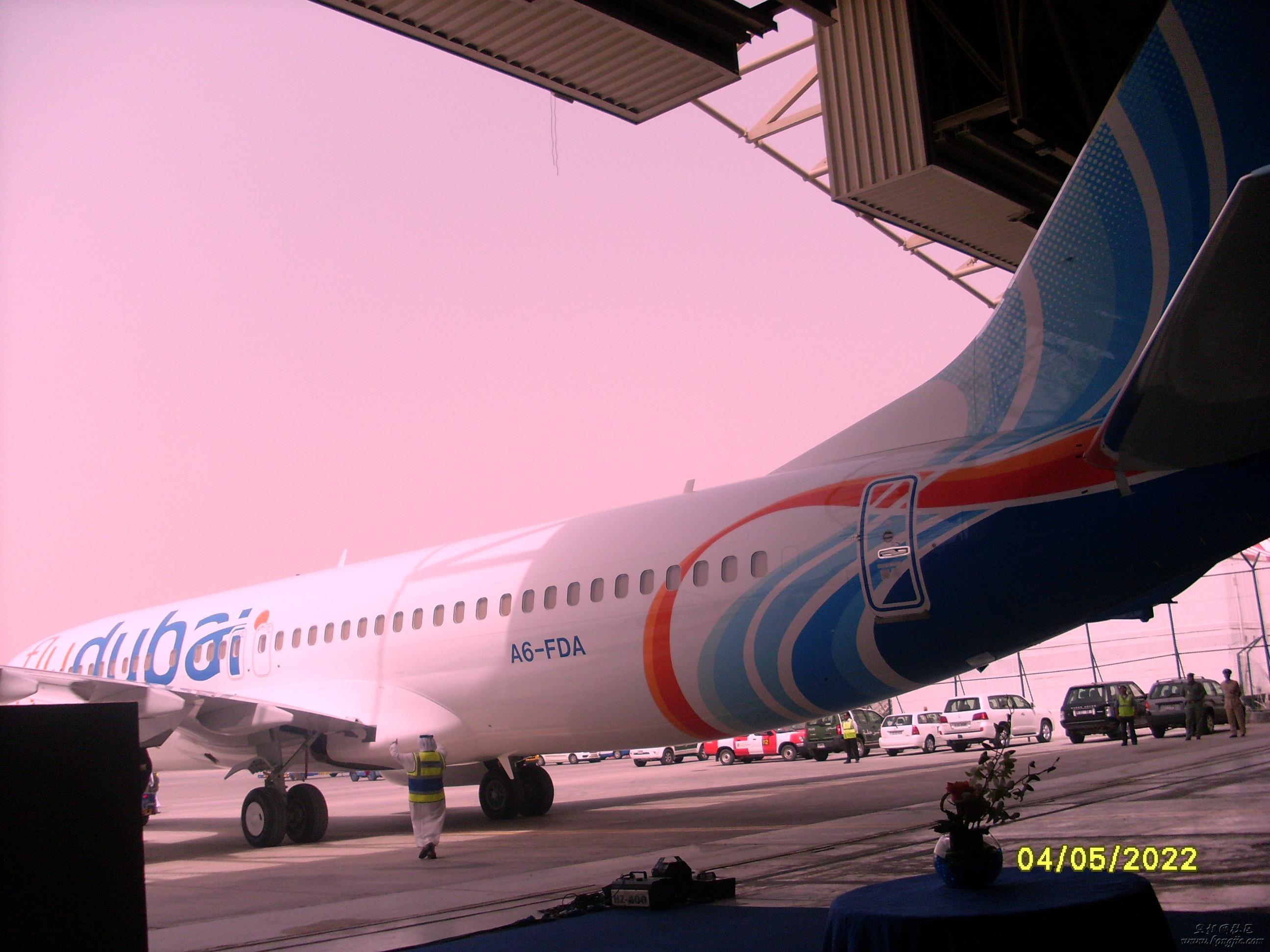 flydubai第一架飞机终于到迪拜了